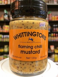 Whittingtons Flaming Chilli Mustard 120g